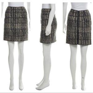 ZAC POSEN Embellished Silk Skirt